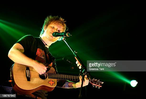 Ed Sheeran performs at the Heineken Music Hall on November 20 2012 in Amsterdam Netherlands