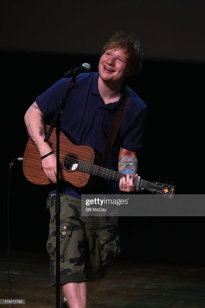 Ed Sheeran performs at the Philadelphia Museum of Art July 20, 2013 in Philadelphia, Pennsylvania.