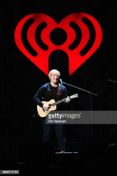 Ed Sheeran performs at the Z100's Jingle Ball 2017 on December 8 2017 in New York City