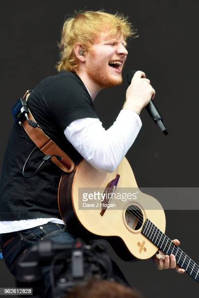 Ed Sheeran performs during day 1 of BBC Radio 1's Biggest Weekend 2018 held at Singleton Park on May 26 2018 in Swansea Wales