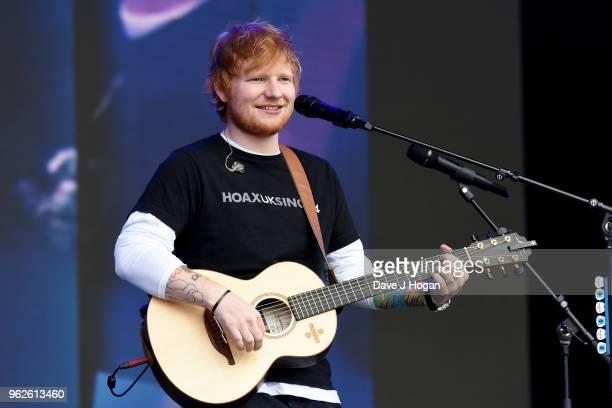 Ed Sheeran performs during day 1 of BBC Radio 1's Biggest Weekend 2018 held at Singleton Park on May 26 2018 in Swansea Wales