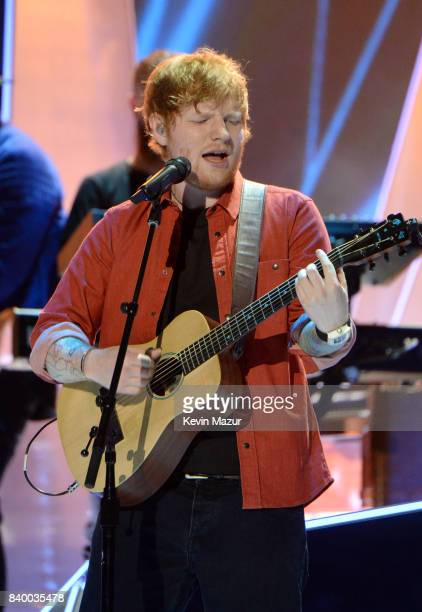 Ed Sheeran performs during the 2017 MTV Video Music Awards at The Forum on August 27, 2017 in Inglewood, California.