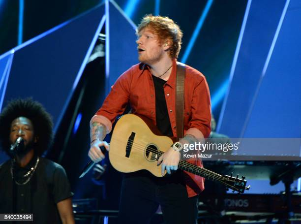 Ed Sheeran performs during the 2017 MTV Video Music Awards at The Forum on August 27 2017 in Inglewood California