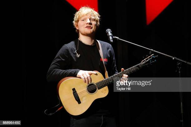 Ed Sheeran performs during the 2017 Z100 Jingle Ball at Madison Square Garden on December 8 2017 in New York City