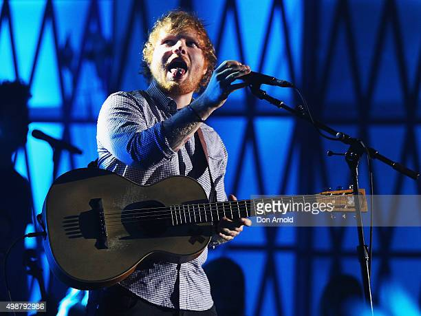 Ed Sheeran performs during the 29th Annual ARIA Awards 2015 at The Star on November 26 2015 in Sydney Australia