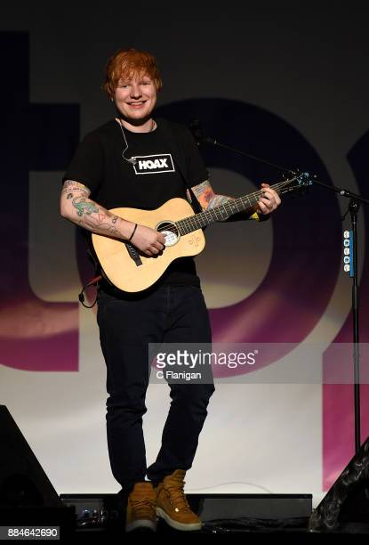 Ed Sheeran performs during the 997 NOW POPTOPIA at SAP Center on December 2 2017 in San Jose California