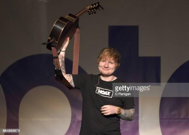 Ed Sheeran performs during the 997 NOW POPTOPIA at SAP Center on December 2 2017 in San Jose California