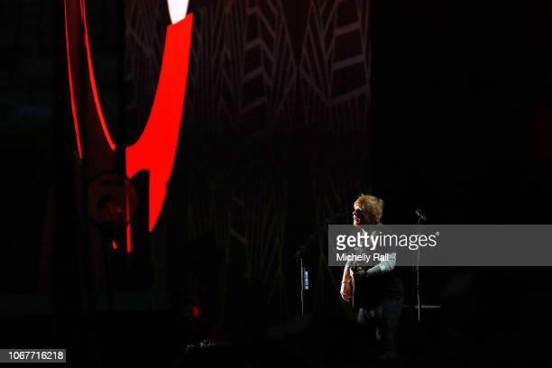 Ed Sheeran performs during the Global Citizen Festival Mandela 100 at FNB Stadium on December 2 2018 in Johannesburg South Africa
