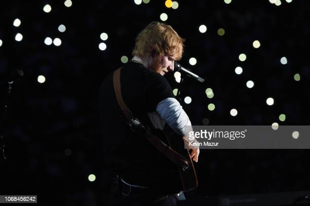 Ed Sheeran performs during the Global Citizen Festival Mandela 100 at FNB Stadium on December 2 2018 in Johannesburg South Africa