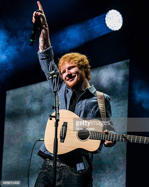Ed Sheeran performs in concert at The Palace of Auburn Hills on September 17 2014 in Auburn Hills Michigan