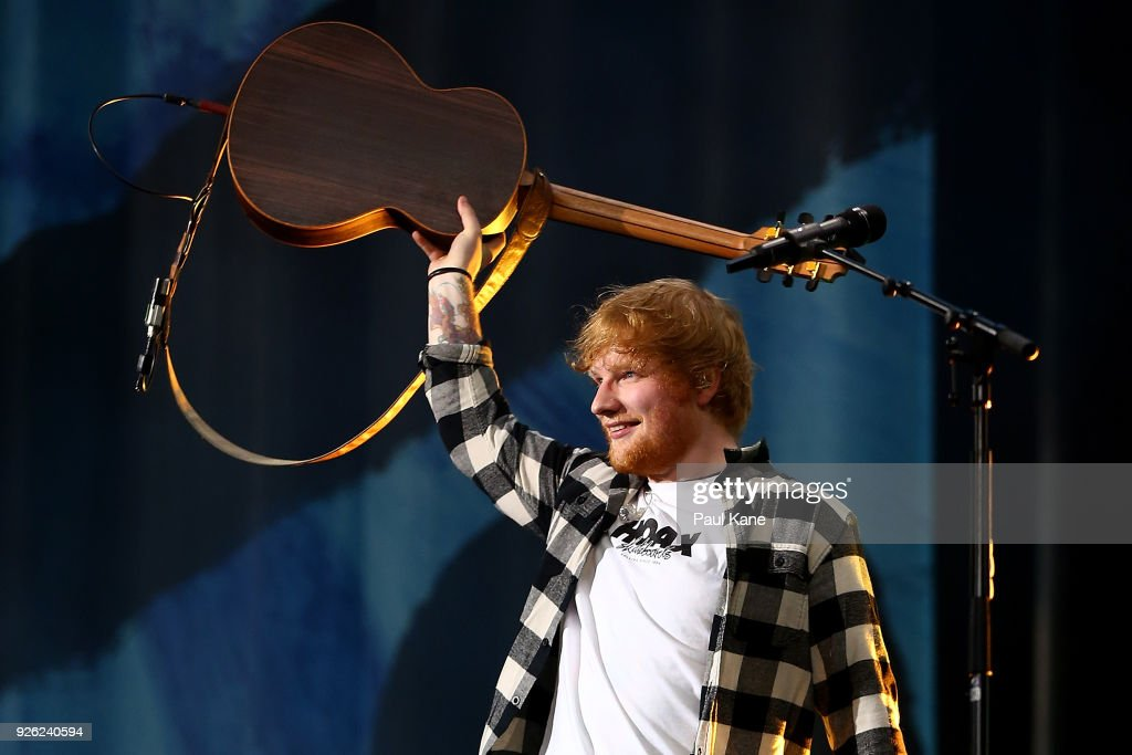 Ed Sheeran Performs In Perth