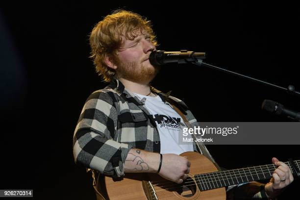 Ed Sheeran performs in concert on the opening night of his Australian tour at Optus Stadium on March 2 2018 in Perth Australia