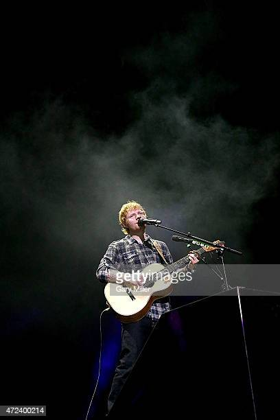 Ed Sheeran performs in concert on the opening night of his 'X' tour at The Frank Erwin Center on May 6 2015 in Austin Texas