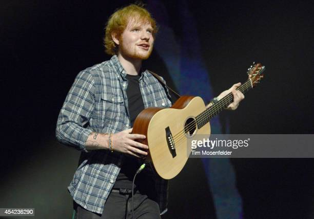 "Ed Sheeran performs in support of his ""x"" release at SAP Center on August 26, 2014 in San Jose, California."