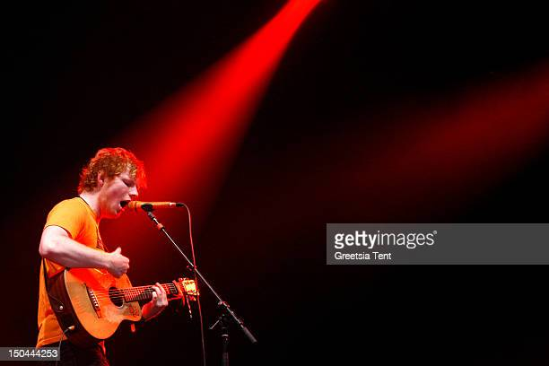 Ed Sheeran performs live at Lowlands Festival on August 17 2012 in Biddinghuizen Netherlands