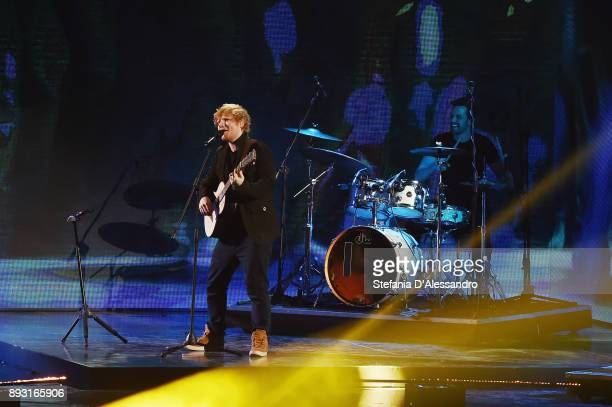 Ed Sheeran performs live at X Factor 11 on December 14 2017 in Milan Italy