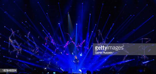 Ed Sheeran performs live on stage at the Unity concert in memory of Stephen Lawrence at O2 Arena on September 29 2013 in London England