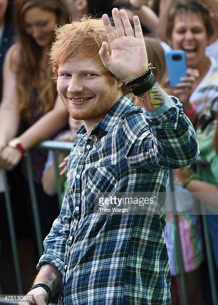 Ed Sheeran Performs On ABC's 'Good Morning America' at Rumsey Playfield Central Park on May 29 2015 in New York City