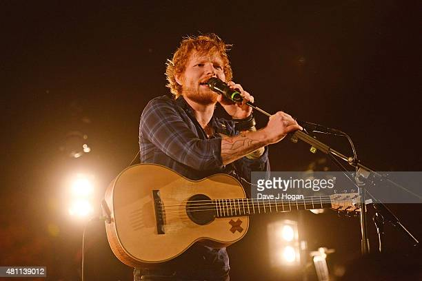 Ed Sheeran performs on day 2 of Latitude Festival at Henham Park Estate on July 17 2015 in Southwold England