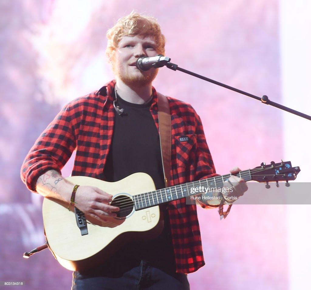 Ed Sheeran performs on day 4 of the Glastonbury Festival 2017 at Worthy Farm, Pilton on June 25, 2017 in Glastonbury, England.