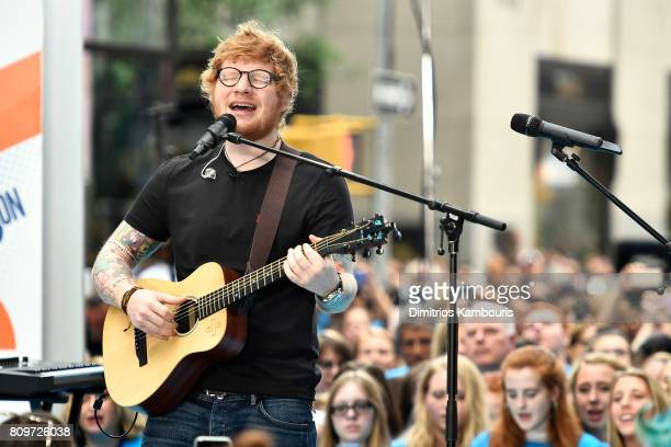 Ed Sheeran performs on NBC's Today at Rockefeller Plaza on July 6 2017 in New York City