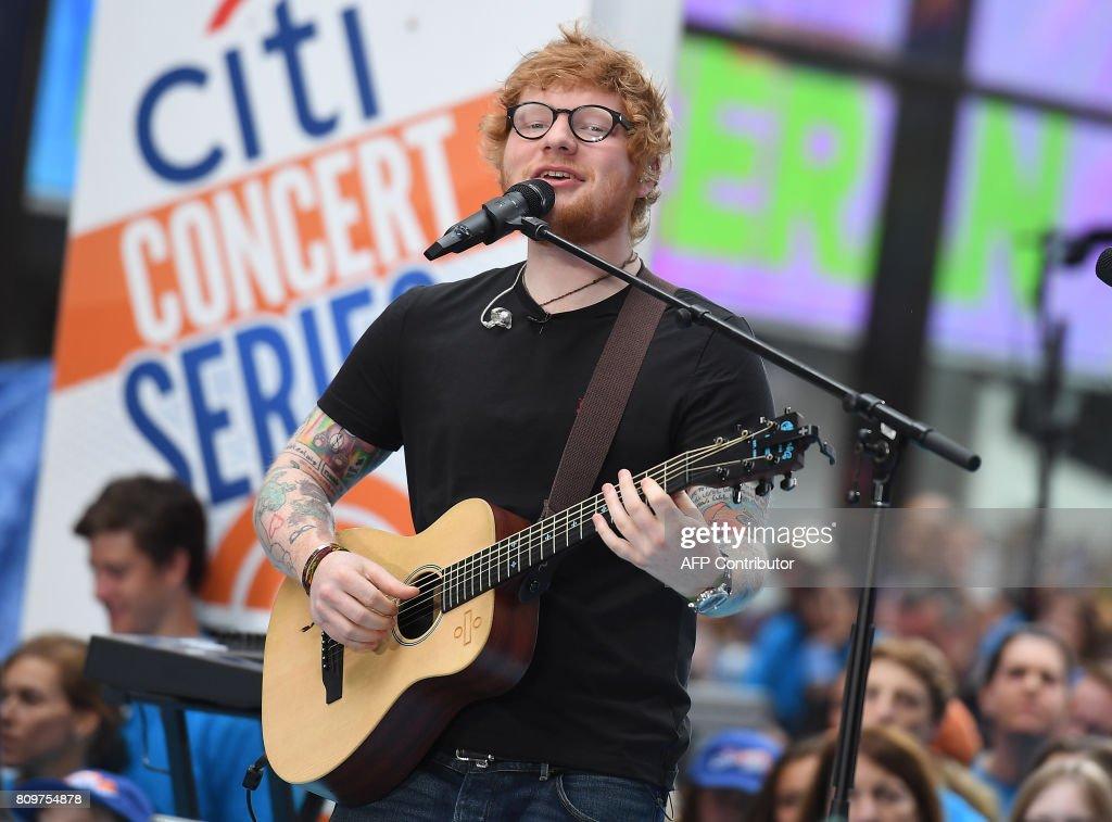 US-entertainment-MUSIC-SHEERAN : News Photo