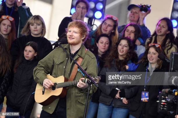 Ed Sheeran performs on NBC's Today at Rockefeller Plaza on March 8 2017 in New York City
