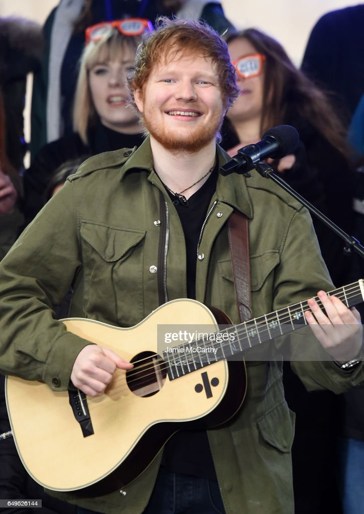 """Ed Sheeran Performs On NBC's """"Today"""""""