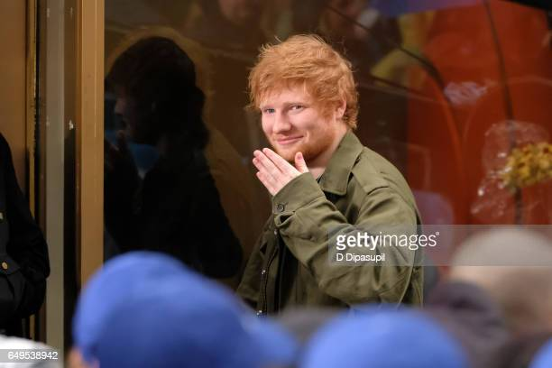 Ed Sheeran performs on NBC's 'Today' at Rockefeller Plaza on March 8 2017 in New York City