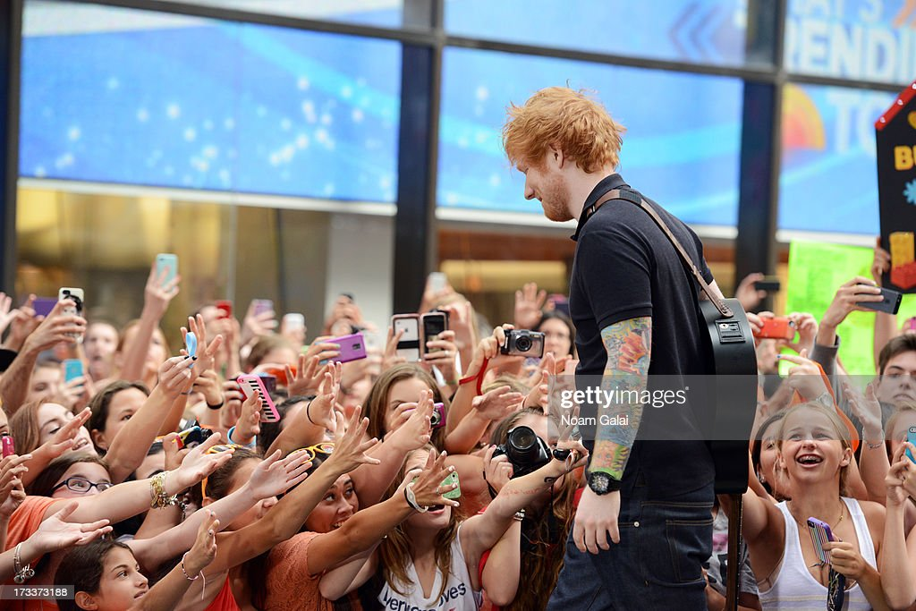 Ed Sheeran performs on NBC's 'Today' at the NBC's TODAY Show on July 12, 2013 in New York, New York.