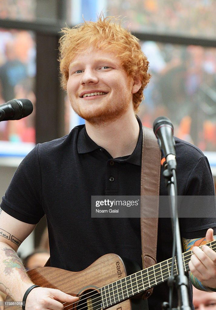 Ed Sheeran performs on NBC's TODAY Show on July 12, 2013 in New York, New York.