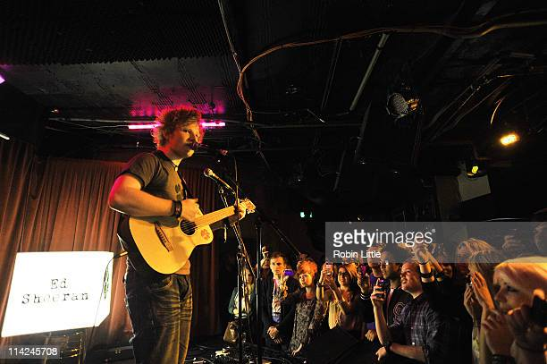 Ed Sheeran performs on stage at Borderline on May 16 2011 in London United Kingdom