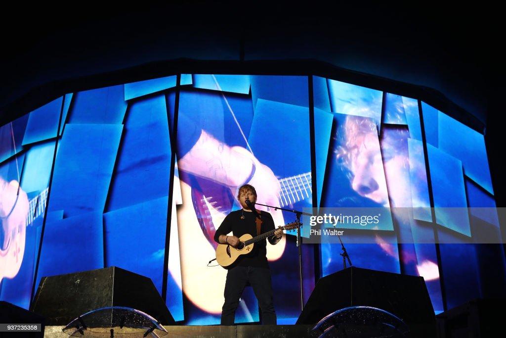 Ed Sheeran Performs In Auckland