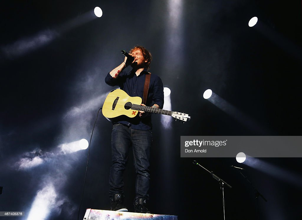 Ed Sheeran performs on stage at Qantas Credit Union Arena on March 24, 2015 in Sydney, Australia.