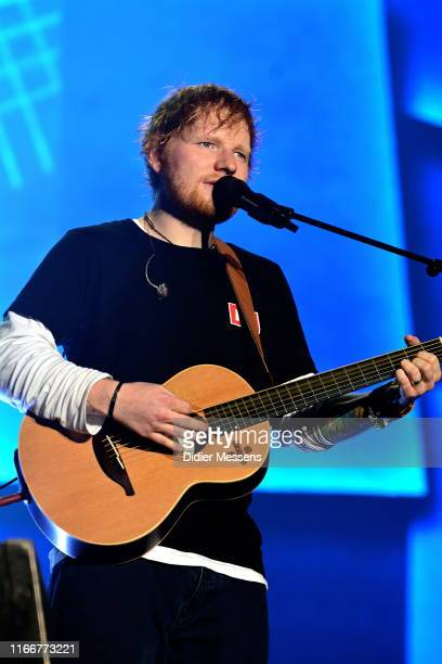 Ed Sheeran performs on stage at Sziget Festival on August 7 2019 in Budapest Hungary