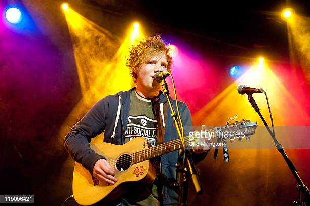 Ed Sheeran performs on stage during Dot To Dot Festival at Rock City on May 29 2011 in Nottingham United Kingdom