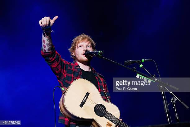 Ed Sheeran performs onstage at Staples Center on August 27 2014 in Los Angeles California