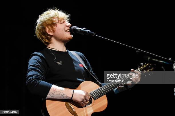 Ed Sheeran performs onstage at the Z100's Jingle Ball 2017 on December 8 2017 in New York City