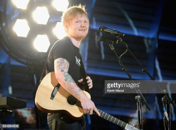 Ed Sheeran performs onstage during The 59th GRAMMY Awards at STAPLES Center on February 12 2017 in Los Angeles California