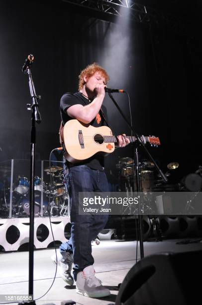 Ed Sheeran performs onstage during Y100's Jingle Ball 2012 at the BBT Center on December 8 2012 in Miami