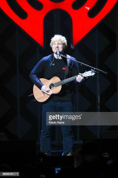 Ed Sheeran performs onstage during Z100's iHeartRadio Jingle Ball 2017 at Madison Square Garden on December 8 2017 in New York City