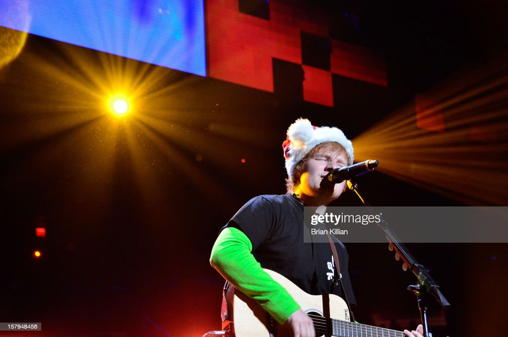 Ed Sheeran performs onstage during Z100's Jingle Ball 2012 presented by Aeropostale at Madison Square Garden on December 7, 2012 in New York City.
