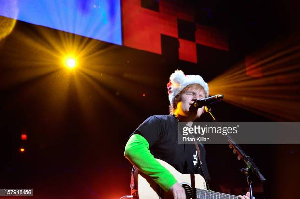 Ed Sheeran performs onstage during Z100's Jingle Ball 2012 presented by Aeropostale at Madison Square Garden on December 7 2012 in New York City
