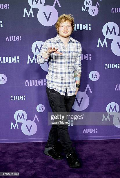 Ed Sheeran poses in the press room at the 2015 Much Music Video Awards at MuchMusic HQ on June 21 2015 in Toronto Canada