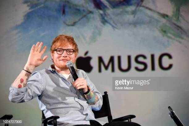 Ed Sheeran speaks onstage at Apple Music Presents Songwriter With Ed Sheeran in Los Angeles at ArcLight Cinemas Cinerama Dome on August 27 2018 in...