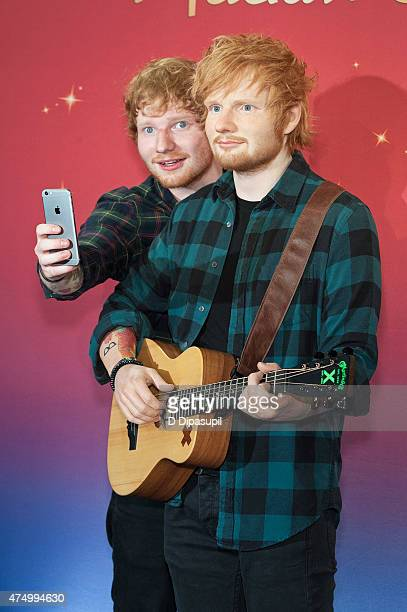 Ed Sheeran unveils a new wax figure at Madame Tussauds on May 28, 2015 in New York City.