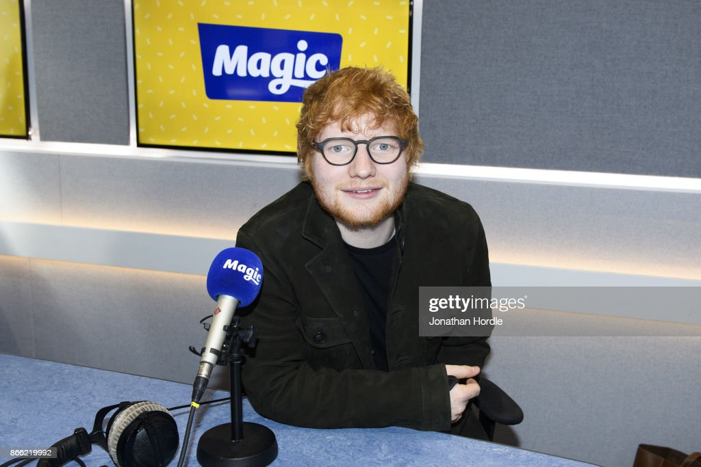Ed Sheeran Visits Absolute Radio and Magic FM