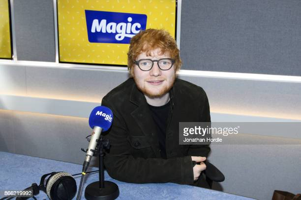 Ed Sheeran visits Magic FM Studio's on October 25 2017 in London England