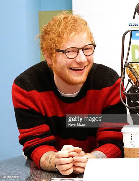 Ed Sheeran visits 'The Elvis Duran Z100 Morning Show' at Z100 Studio on January 12 2017 in New York City