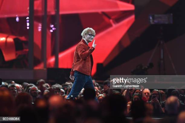 AWARDS 2018 *** Ed Sheeran winner of the Global Success 2018 award at The BRIT Awards 2018 held at The O2 Arena on February 21 2018 in London England